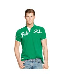 Polo Ralph Lauren | Green Custom-fit Mesh Polo Shirt for Men | Lyst
