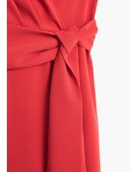 Mango - Red Wrapped Gown - Lyst