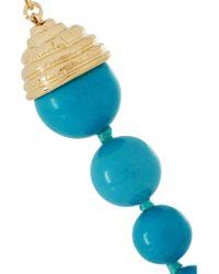 Aurelie Bidermann - Blue Lakotas Pearl Drop Earrings - Lyst