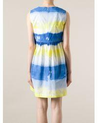 MSGM Blue Tie Dye Effect Dress