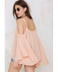 Nasty Gal - Orange Ticket To Ride Peasant Blouse - Lyst