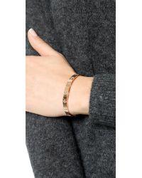 Tory Burch - Metallic Pierced T Cuff Bracelet - Rose Gold - Lyst