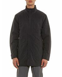 Aether Black Polar Trench Coat for men