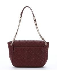 Lyst Tory Burch Burgundy Diamond Quilted Leather Marion
