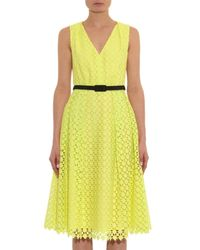 Erdem Yellow Kuni Broderie-Anglaise Cotton Dress