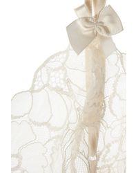 Stella McCartney - White Erin Wishing Lace-Trimmed Silk Chemise - Lyst