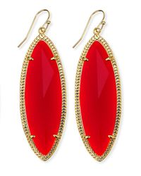 Kendra Scott | Jessa Marquise Earrings Red | Lyst