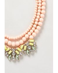 Anthropologie - Pink Boreal Bib Necklace - Lyst