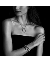 David Yurman - Metallic Cable Classics Narrow Bracelet With Diamonds - Lyst