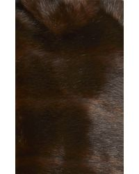 Harvey Faircloth - Black Faux Fur Chore Cape With Front Pockets - Lyst