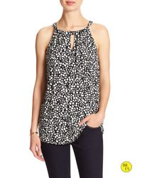 Banana Republic | Gray Factory Print Cut-out Halter | Lyst