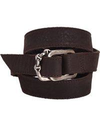 Hoorsenbuhs - Brown Leather Wrap Bracelet - Lyst