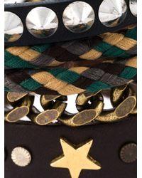 DIESEL | Brown Multi Strand Bracelet for Men | Lyst