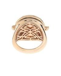 Alison Lou Blue Black-Diamond & Gold Caviar Case Ring