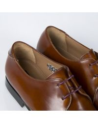 Paul Smith Brown High-Shine Tan Leather 'Robin' Derby Shoes for men