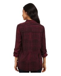 Calvin Klein Jeans | Red Snake Print Double Front Fray Shirt | Lyst