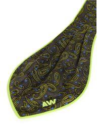 Alexander Wang - Multicolor Paisley Print Pleat Silk Ascot Tie - Lyst