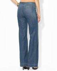 Ralph Lauren - Blue Wide Leg Jeans - Lyst
