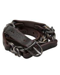 Johnny Farah Green Twisted Chain Link Belt