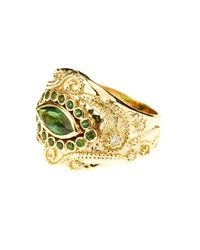 Aurelie Bidermann - Metallic Cashmere Tourmaline And Diamonds Yellow-gold Ring - Lyst