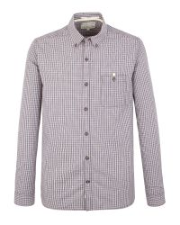 Racing Green Purple Newton Small Check Shirt for men
