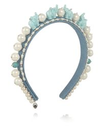 Masterpeace - Blue Elephant Acrylic And Pearl Headband - Lyst
