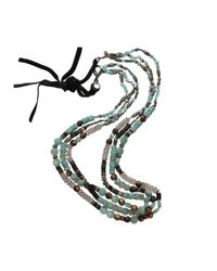 Royal Nomad Jewelry - Blue Three Strand Pyrite And Opal Necklace - Lyst