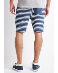 Forever 21 | Blue Texture-striped Drawstring Shorts for Men | Lyst