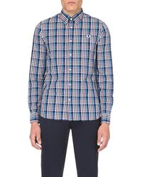 Fred Perry - Red Gingham Cotton Shirt for Men - Lyst