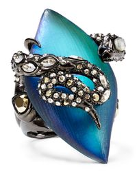 Alexis Bittar | Blue Lucite & Crystal Lace Snake Ring | Lyst