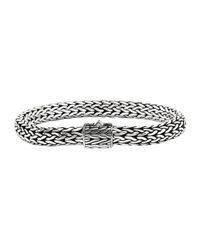 John Hardy | Metallic Classic Chain 6.5mm Small Braided Silver Bracelet for Men | Lyst