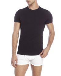 DSquared² - Black Crew Neck T-Shirt for Men - Lyst