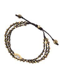 Tai | Yellow 3-Strand Pyrite Beaded Bracelet | Lyst