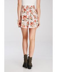 Forever 21 Multicolor Buttoned Rose Print Skirt You've Been Added To The Waitlist