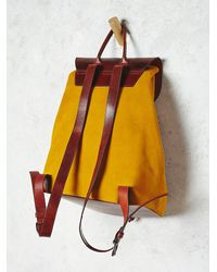 Free People | Yellow Most Wanted Usa Womens Out West Backpack | Lyst