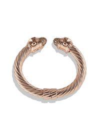 David Yurman | Metallic Renaissance Bracelet With Diamonds In Rose Gold, 10mm | Lyst