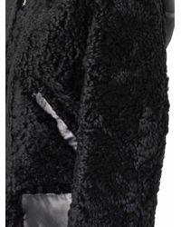 Balenciaga Black Reversible Shearling Biker Jacket