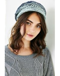 Urban Outfitters Blue Ombre Rolled Edge Beret