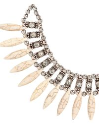 H&M - Metallic Necklace With Stone Beads - Lyst