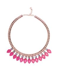 Ted Baker Pink Emari Pear Drop Necklace