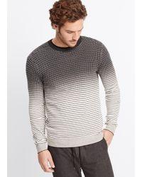 Vince Gray Dégradé Geo Print Crew Neck Sweater for men