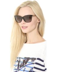 Gucci | Special Fit Pointed Sunglasses - Black/Grey Gradient | Lyst
