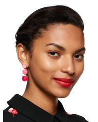 kate spade new york - Multicolor Smell The Roses Linear Earrings - Lyst