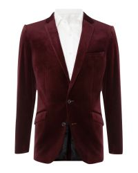 Simon Carter Red Velvet Jacket for men