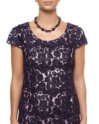 Jacques Vert | Purple Crystal Facet Necklace | Lyst