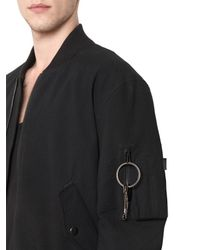 Givenchy - Black Cotton Seersucker Bomber Jacket for Men - Lyst
