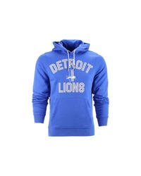Nike Blue Men'S Detroit Lions Club Rewind Hoodie for men