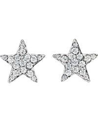 Finn - Metallic Pave Star Stud Earrings - Lyst