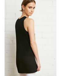 Forever 21 - Black Ribbed Knit Vented Tank - Lyst