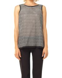 Leon Max - Black Lace Shell With Rubber Detail - Lyst